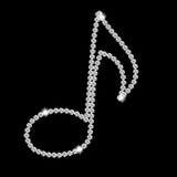 De abstracte mooie zwarte vector van de Nota van de Muziek van de Diamant Royalty-vrije Stock Foto's