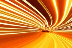 De abstracte motie van de Snelheid op een wegweg Stock Afbeeldingen