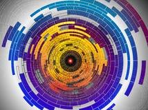 De abstracte multicolored achtergrond van technologie Stock Fotografie