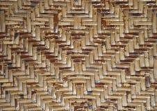 De abstracte muur van het kunstbamboe Stock Foto
