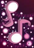 De abstracte Muziek neemt nota van Dancing_eps Stock Afbeelding