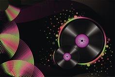De abstracte muziekachtergrond adverteert Royalty-vrije Stock Afbeelding