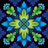 De abstracte naadloze achtergrond van het bloempatroon Royalty-vrije Stock Afbeelding