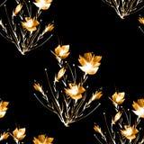 De abstracte naadloze achtergrond van de waterverf De abstracte installatie van de bloempapaver vector illustratie
