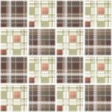De abstracte naadloze bedelaars van het het ontwerppatroon van de kant geruite plaid textiel royalty-vrije illustratie