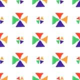 De abstracte naadloze hand trekt patroon dwarsster Stock Afbeelding