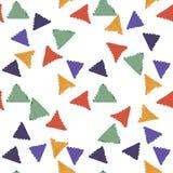 De abstracte naadloze hand trekt patroondriehoek Stock Fotografie