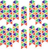 De abstracte naadloze hand trekt patroondriehoek Stock Afbeelding