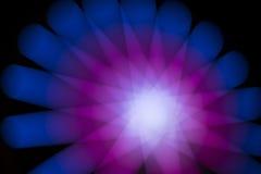 De abstracte nacht steekt achtergrond aan Stock Foto