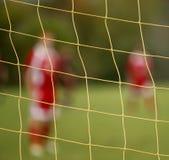 De abstracte netto spelers van het onduidelijk beeldvoetbal Royalty-vrije Stock Foto