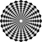 De abstracte op achtergrond van het kunst zwart-witte geometrische patroon stock illustratie