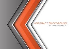 De abstracte oranje grijze zilveren richting van de lijnpijl met witte lege ruimte en de tekst ontwerpen moderne futuristische ve royalty-vrije illustratie
