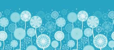 De abstracte Paardebloem plant Horizontale Naadloos stock illustratie