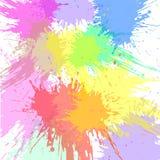 De abstracte Plons van de Waterverf Waterverfnevel Royalty-vrije Stock Fotografie