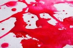 De abstracte plons van de waterverfverf op document textuur Stock Foto