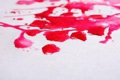 De abstracte plons van de waterverfverf op document textuur Stock Foto's