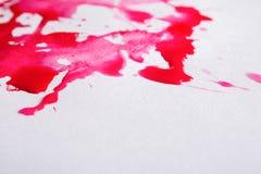 De abstracte plons van de waterverfverf op document textuur Royalty-vrije Stock Fotografie