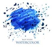 De abstracte plons van de waterverfvlek Stock Foto