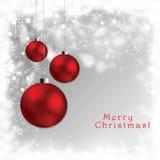 De abstracte prentbriefkaar van Kerstmisbollen - giftcards Stock Foto