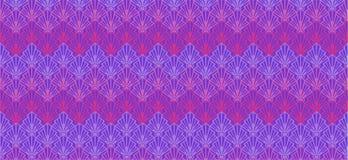 De abstracte purpere geometrische zeeschelpen van de patroonbanner stock illustratie
