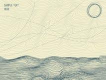 De abstracte randen van de rivier royalty-vrije illustratie