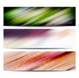 De abstracte reeks van de kleurenbanner royalty-vrije illustratie