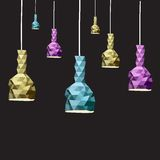 De abstracte reeks van de Lamp, vectorillustratie Royalty-vrije Stock Foto's