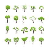 De abstracte reeks van het boompictogram, vectoreps10