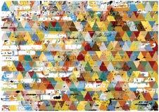 De abstracte retro achtergrond van grungedriehoeken Stock Foto's