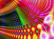 De abstracte Retro Textuur van Strepencirkels royalty-vrije stock foto