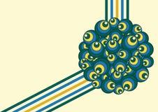 De abstracte Retro Vectorillustratie van Cirkelsvormen royalty-vrije illustratie