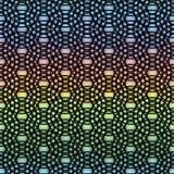 De abstracte ringen om motief geometrisch achtergrondnetrooster, bel, Uitstekende zwarte in Textieldruk, webpagina vullen regenbo stock illustratie