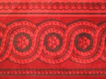 De abstracte rode achtergrond van de tapijtgrens Royalty-vrije Stock Afbeeldingen