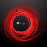 De abstracte Rode Achtergrond van de Werveling Vector illustratie vector illustratie