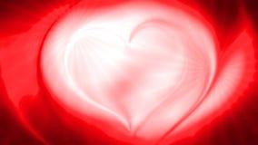 De abstracte rode achtergrond van de hart 3d golf Royalty-vrije Stock Afbeeldingen