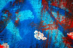 De abstracte rode en blauwe hand schilderde acrylachtergrond vector illustratie
