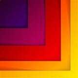 De abstracte rode en oranje achtergrond van driehoeksvormen Stock Foto