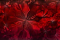 De abstracte rode kleur bloeit het ontwerpachtergrond van het vormpatroon Stock Afbeeldingen