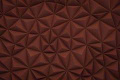 De abstracte rode marsala lage polyachtergrond met 3d exemplaarruimte trekt uit Royalty-vrije Stock Afbeeldingen