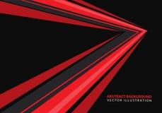 De abstracte rode richting van de snelheidspijl op zwarte ontwerp moderne futuristische vector als achtergrond vector illustratie