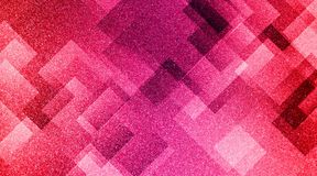 De abstracte rode roze en grijze achtergrond stelde gestreepte patroon en blokken in diagonale lijnen met uitstekende rode roze e royalty-vrije stock afbeelding
