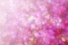 De abstracte roze achtergrond van bokehkerstmis Moderne eenvoudige vlakke sig Stock Foto's