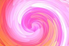De abstracte roze en oranje achtergrond van het draaikolkpatroon Royalty-vrije Stock Foto