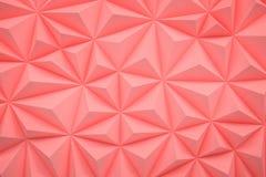 De abstracte roze lage polyachtergrond met 3d exemplaarruimte geeft terug Stock Foto's