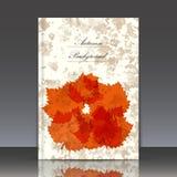De abstracte samenstelling, de kaart van de de herfstgebeurtenis, de reclame van het bladerenthema, voorziet verkoop-uit certific Royalty-vrije Stock Fotografie