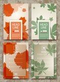 De abstracte samenstelling, de kaart van de de herfstgebeurtenis, de reclame van het bladerenthema, voorziet verkoop-uit certific Stock Foto