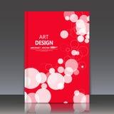 De abstracte samenstelling, geometrisch vormenpictogram, bellen siert, a4 het blad van de brochuretitel, de ronde achtergrond van Royalty-vrije Stock Fotografie