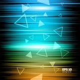 De abstracte samenstelling, glanzende geometrische vormgloed, visuele rassenbarrières steekt aan, vliegend het pictogram van de d Royalty-vrije Stock Fotografie