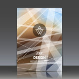 De abstracte samenstelling, stedelijke stad verwarde achtergrond, a4 het blad van de brochuretitel, achtergrond, embleembouw, lic Stock Foto's