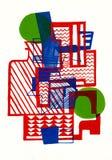 De abstracte samenstelling van Burle Marx Royalty-vrije Stock Foto's